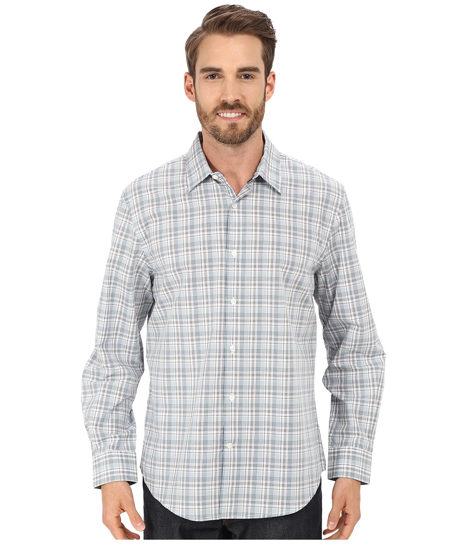 Perry Ellis Multi Color Plaid Shirt Chromite Mens Clothing