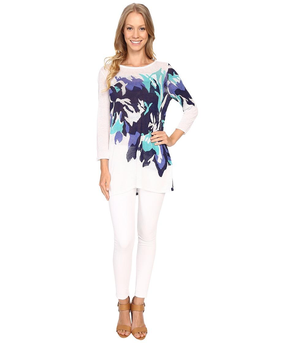 NICZOE Hibiscus Bloom Tunic Multi Womens Clothing