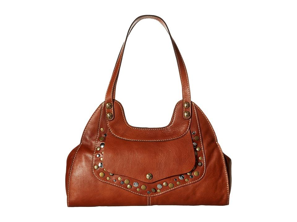Patricia Nash - Ergo Satchel (Tan) Satchel Handbags
