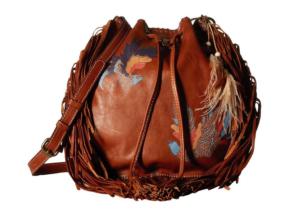 Patricia Nash - Carrara Drawstring w/ Feather (Tan) Drawstring Handbags