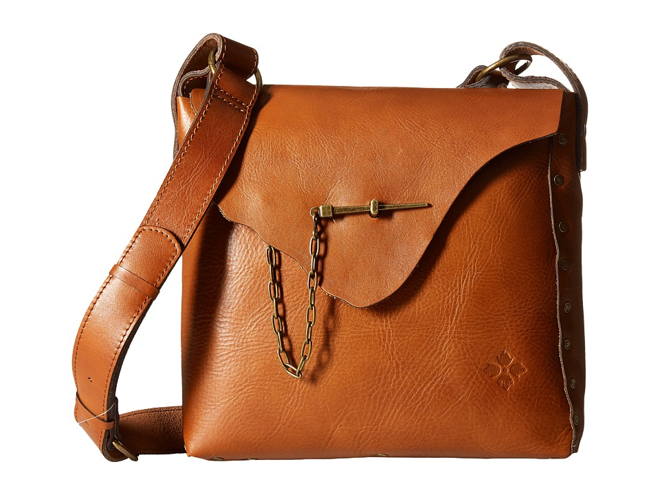 Patricia Nash - Spontini Square Saddle Bag (Tan) Handbags