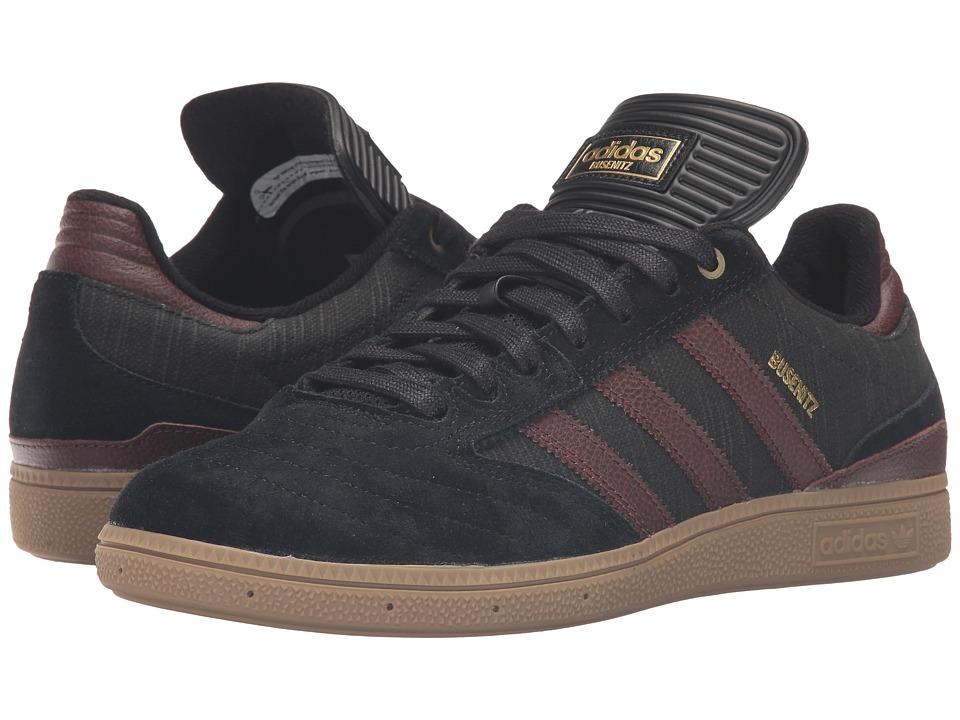 Image of adidas Skateboarding - Busenitz Classified (Core Black/Auburn/Gum) Men's Skate Shoes