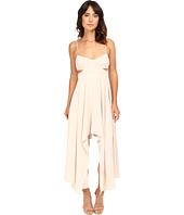 Halston Heritage - Scoop Neck Dress with High-Low Hem