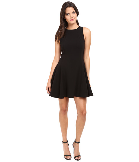 Halston heritage round neck double face crepe dress at for Halston heritage shirt dress