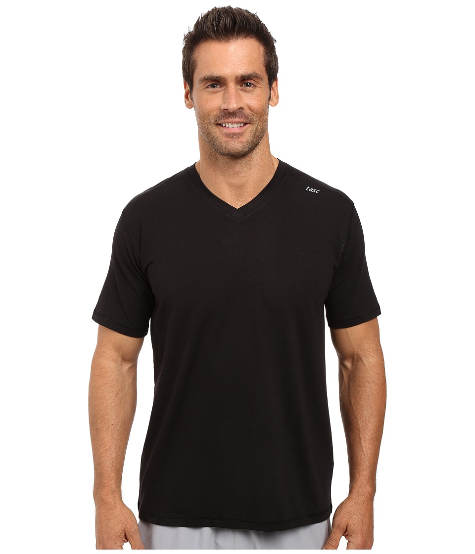 tasc Performance - Vital V-Neck (Black) Mens Workout