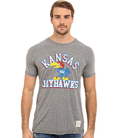 The Original Retro Brand - Short Sleeve Tri-Blend Kansas Jayhawks Tee