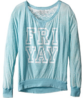 The Original Retro Brand Kids - Fri Yay Burnout Pullover (Little Kids/Big Kids)
