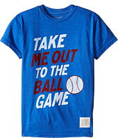 The Original Retro Brand Kids - Take Me Out to the Ball Game Heathered Short Sleeved Tee (Big Kids)