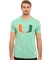 The Original Retro Brand - Short Sleeve Tri-Blend Miami Hurricane Tee