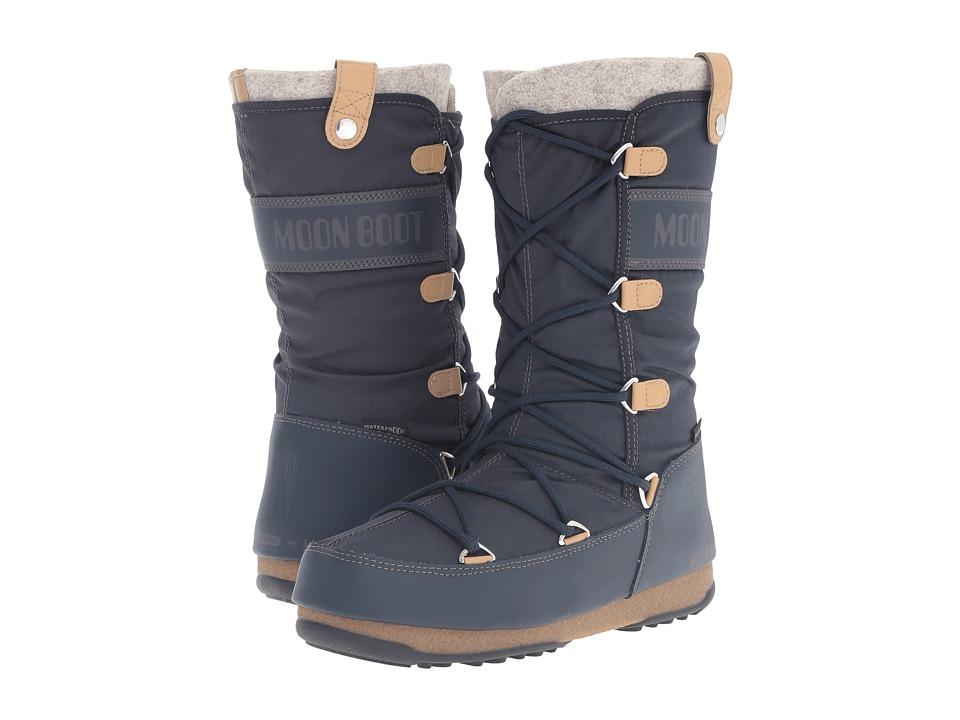 Tecnica - Moon Boot Monaco Felt (Blue Denim) Women