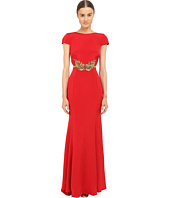 Marchesa Notte - Crepe Gown w/ Side Cut Outs