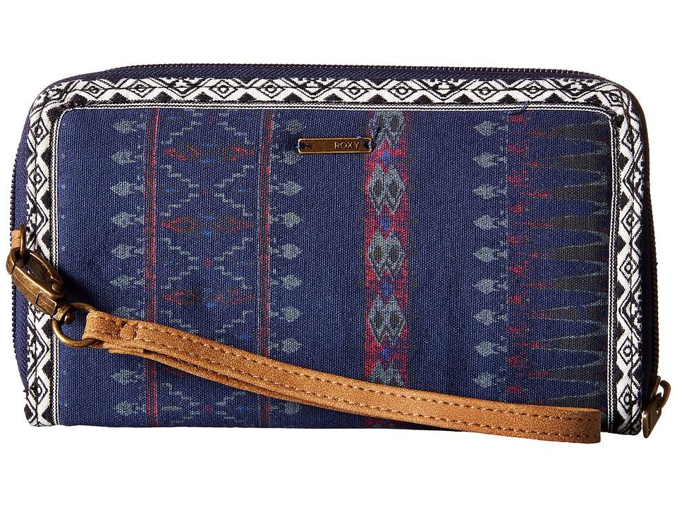 Roxy - Hey Now Wallet (Sayra Blue Print) Wallet Handbags