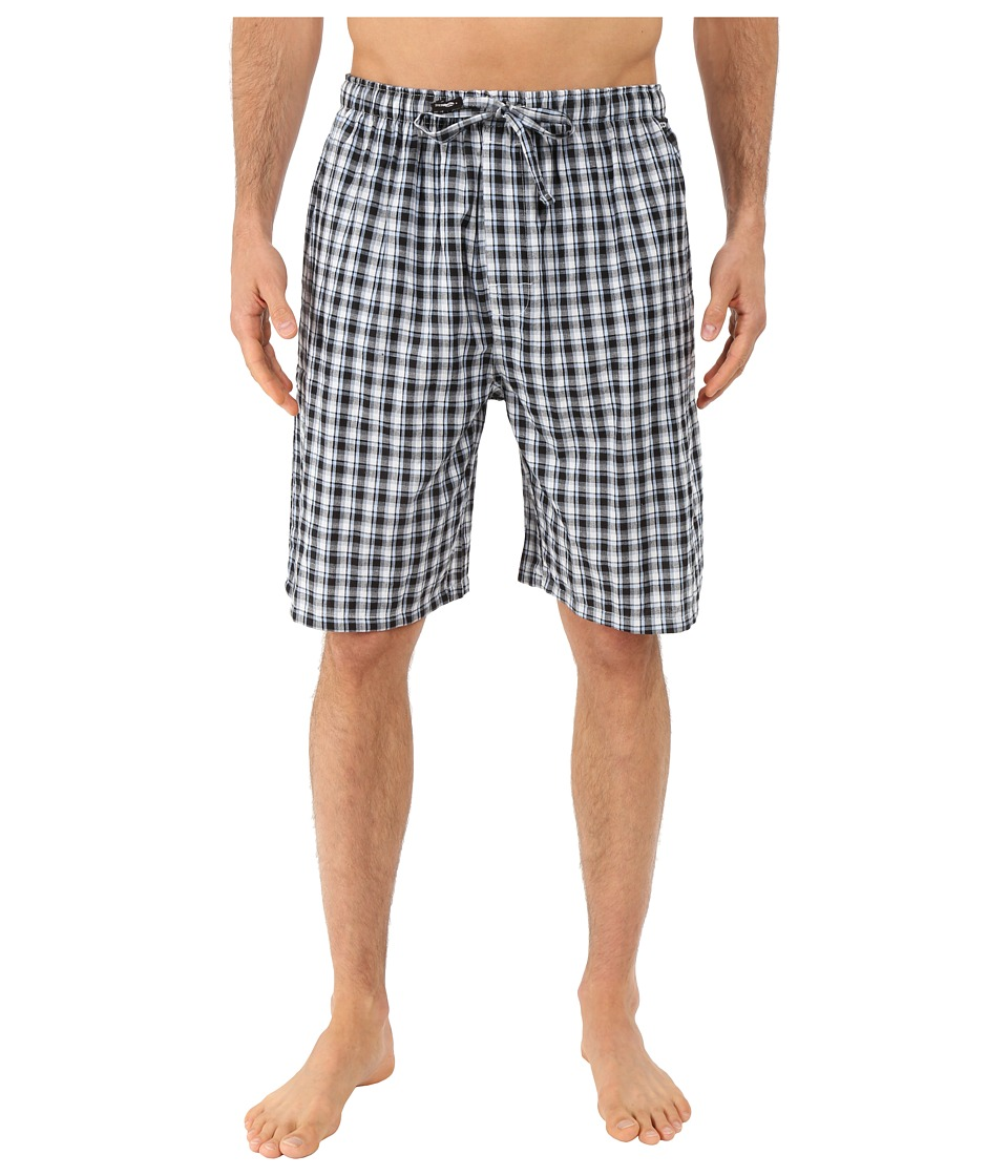 Jockey Chambray Sleep Shorts Blue/Black Plaid Mens Pajama