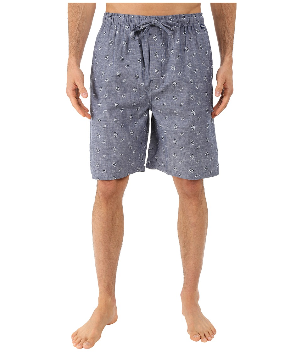 Jockey Chambray Sleep Shorts Paisley Mens Pajama