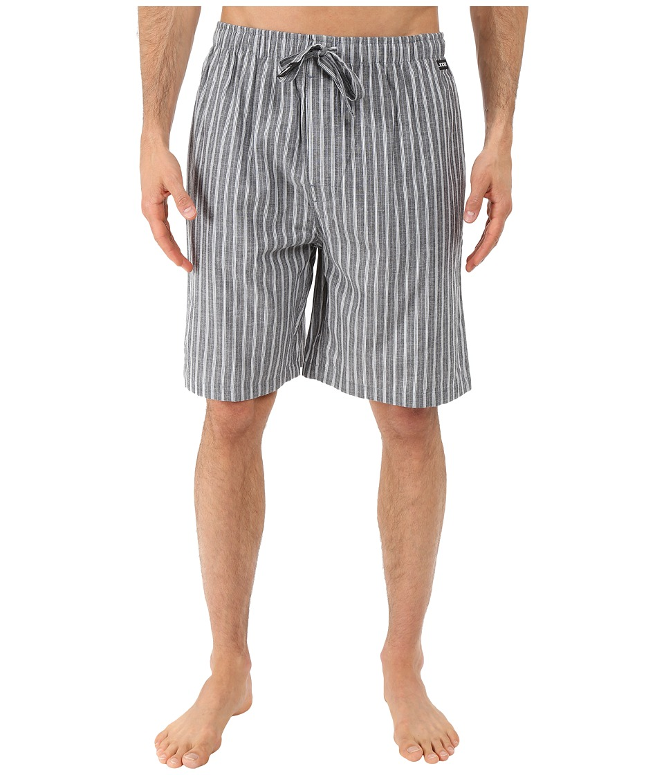 Jockey Chambray Sleep Shorts Grey/White Stripe Mens Pajama