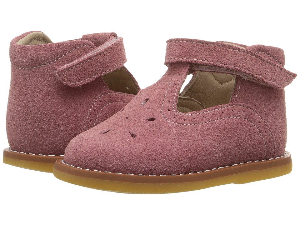Elephantito Suede T Bar (Toddler) (Pink) Girl's Shoes