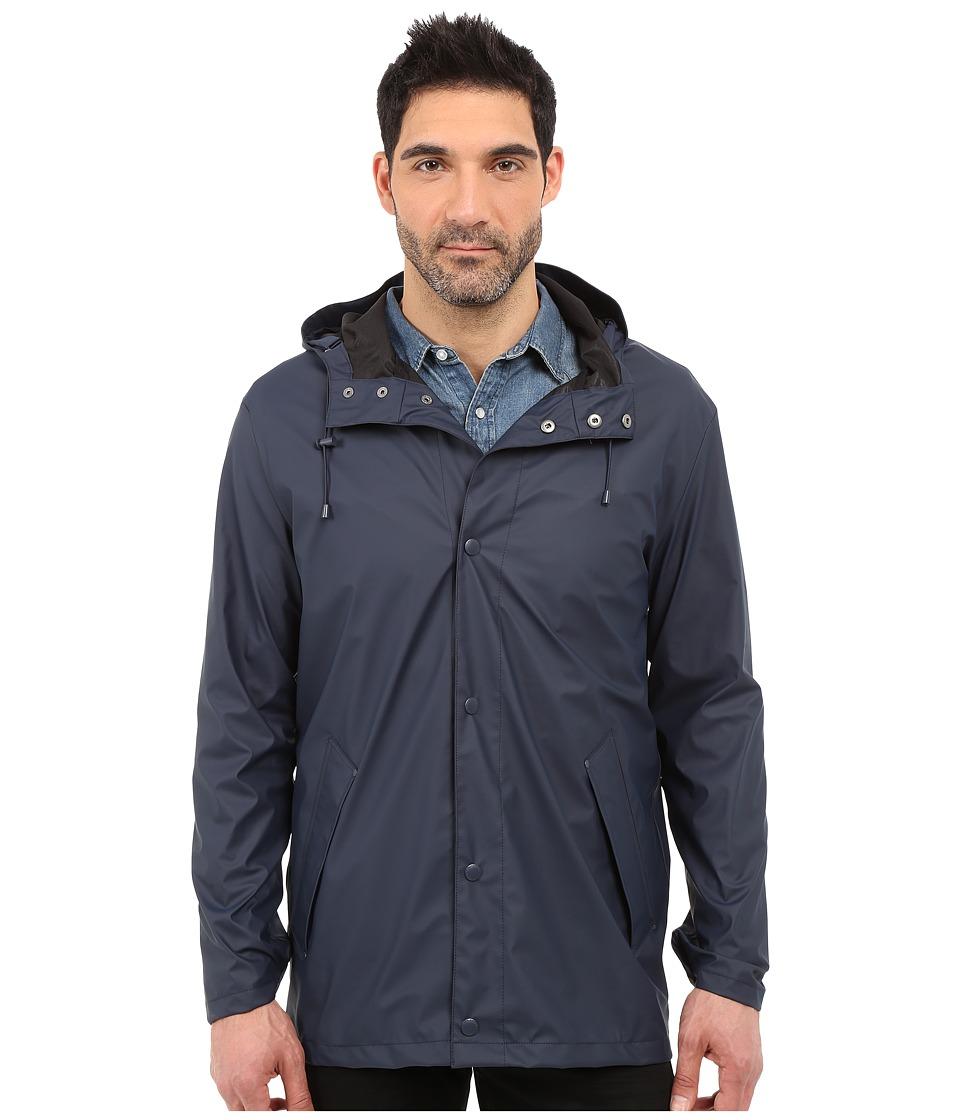 Cole Haan - 32 Rubberized Rain Jacket (Navy) Men