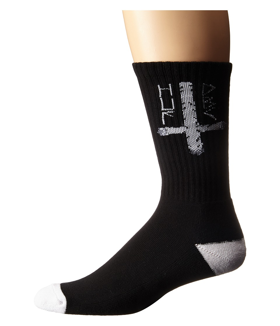 HUF Ashes To Ashes Crew Sock Black Mens Crew Cut Socks Shoes
