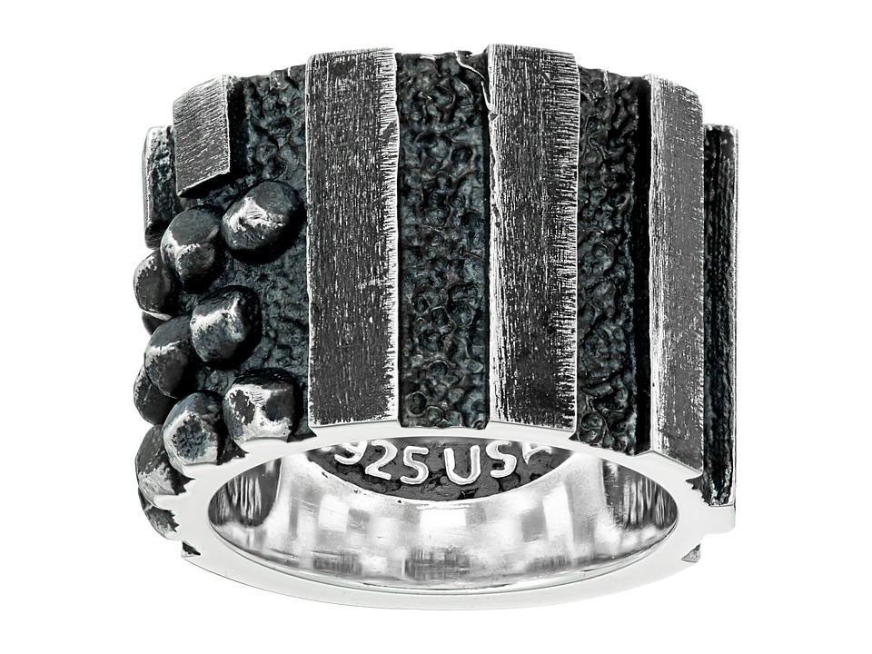 King Baby Rivited Flag Ring (Silver) Ring