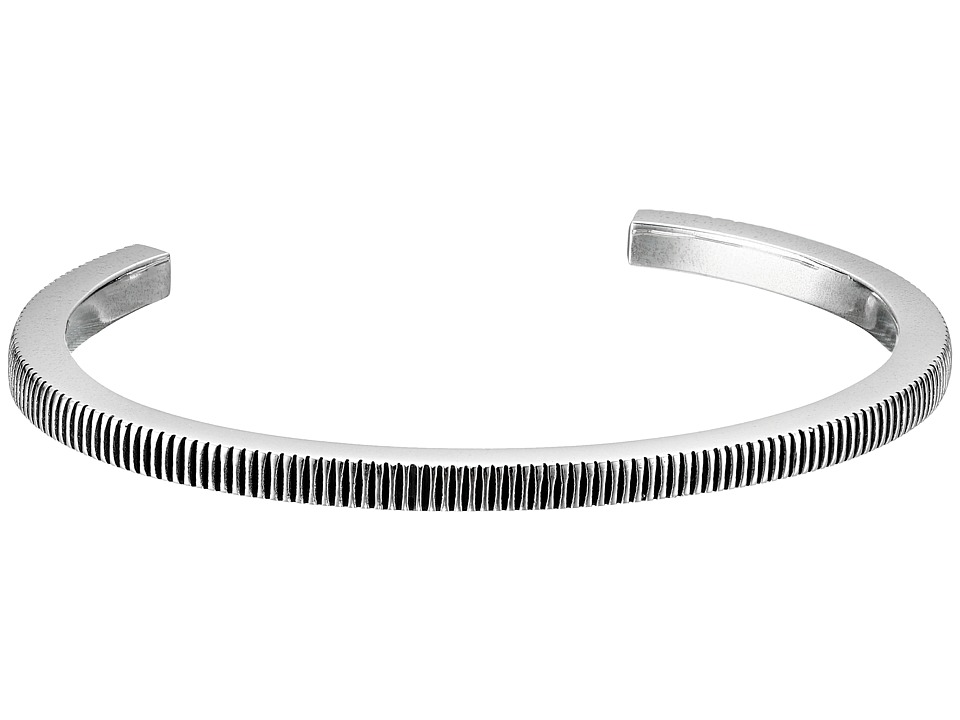 King Baby Studio - Thick Coin Edge Cuff Bracelet (Silver) Bracelet