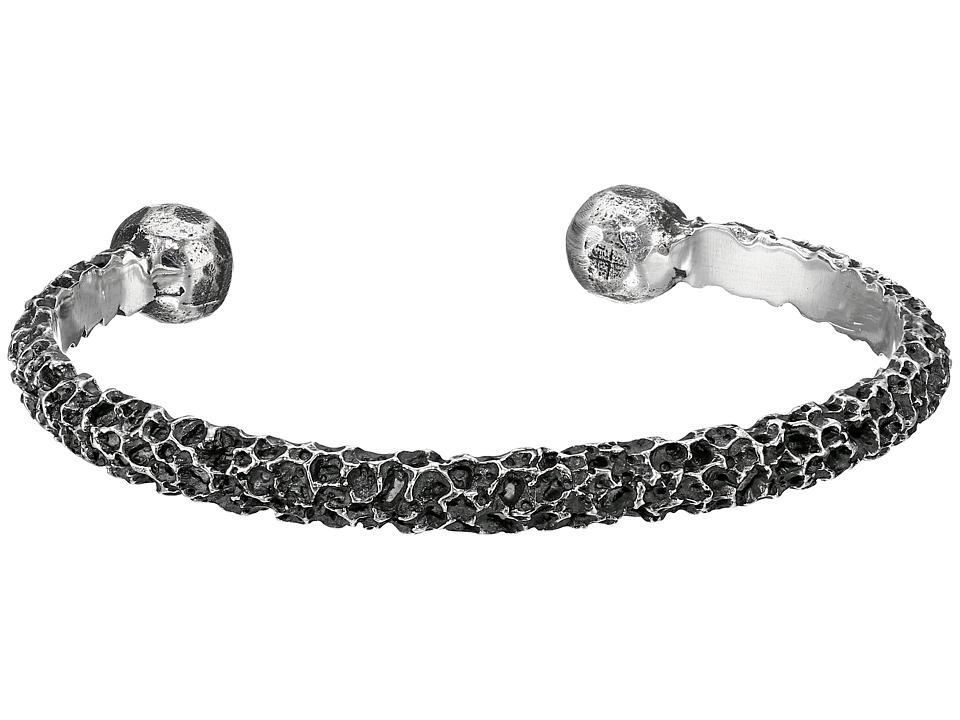 King Baby Studio Lava Rock Textured Cuff Bracelet Silver Bracelet