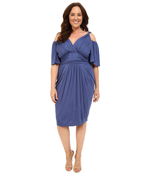 Kiyonna - Tantalizing Twist Dress (Vintage Blue) Women's Dress