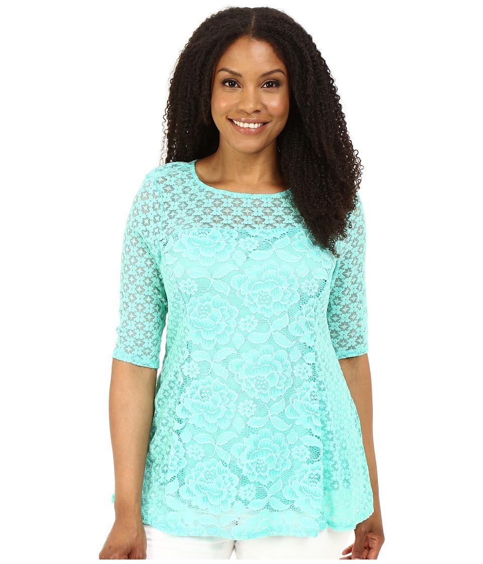 Kiyonna Delicate Dream Top Mint Parfait Womens Clothing