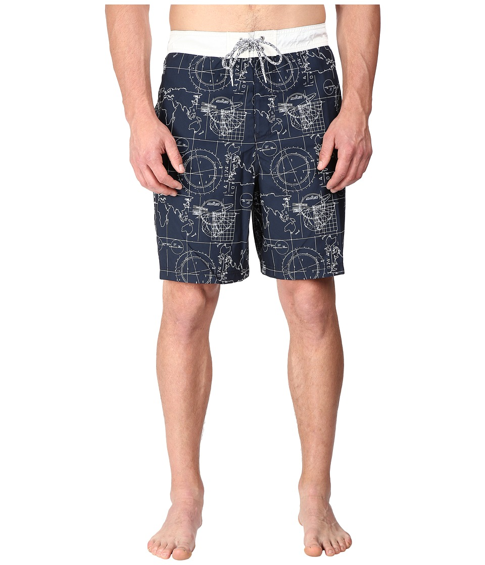Nautica Big amp Tall Big Tall Map Print Trunk True Navy Mens Swimwear