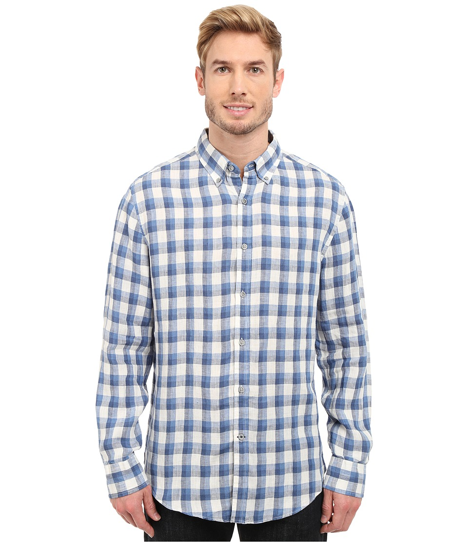 Nautica Long Sleeve Linen with Pocket Federal Blue Mens Clothing