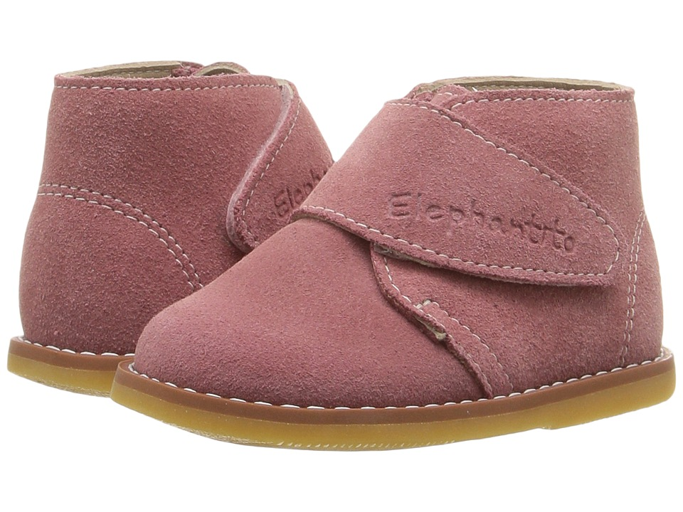 Elephantito - Suede Bootie (Toddler) (Pink) Girls Shoes