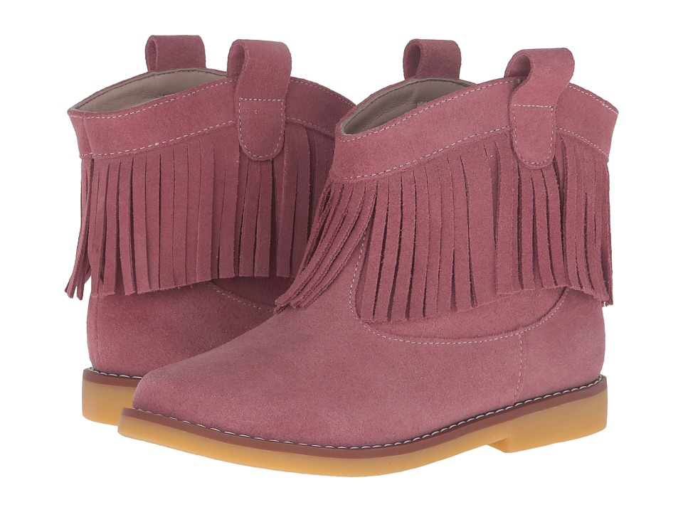 Elephantito Bootie w/ Fringes (Toddler/Little Kid/Big Kid) (Suede Pink) Girls Shoes