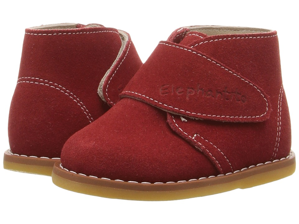 Elephantito - Suede Bootie (Toddler) (Red) Kids Shoes