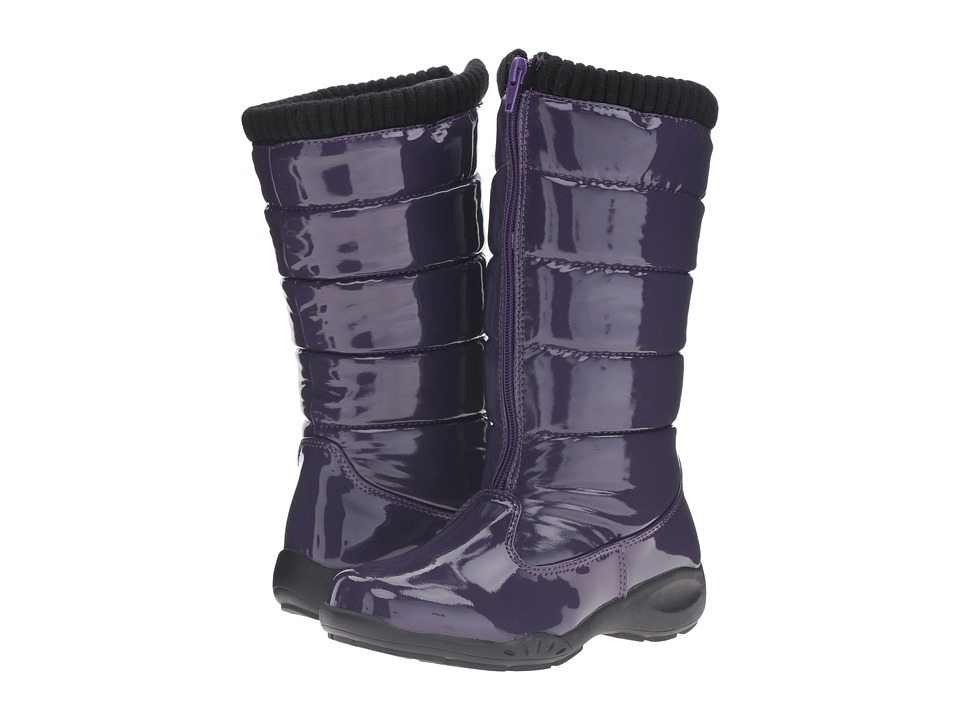 Tundra Boots Kids Puffy (Little Kid/Big Kid) (Purple) Girls Shoes