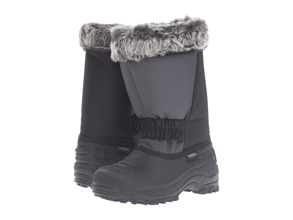 Tundra Boots Kids Glacier Misses (Little Kid/Big Kid) (Black/Charcoal) Girls Shoes
