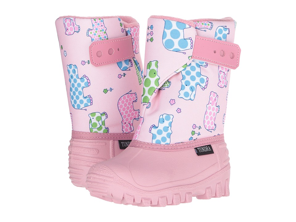 Tundra Boots Kids - Teddy (Toddler/Little Kid) (Pink Hippo) Girls Shoes