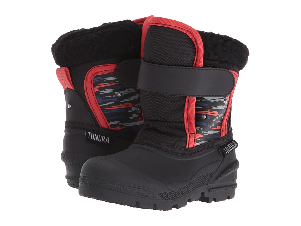 Tundra Boots Kids - Midnight (Toddler) (Black Print) Boys Shoes