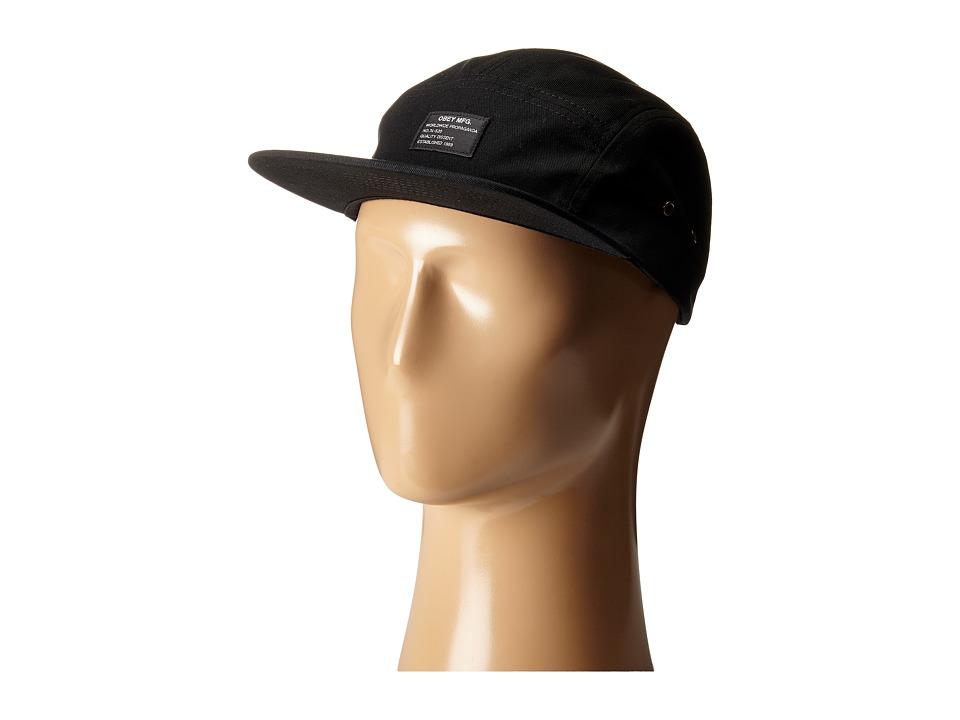 Obey Platoon 5 Panel Cap Black Caps