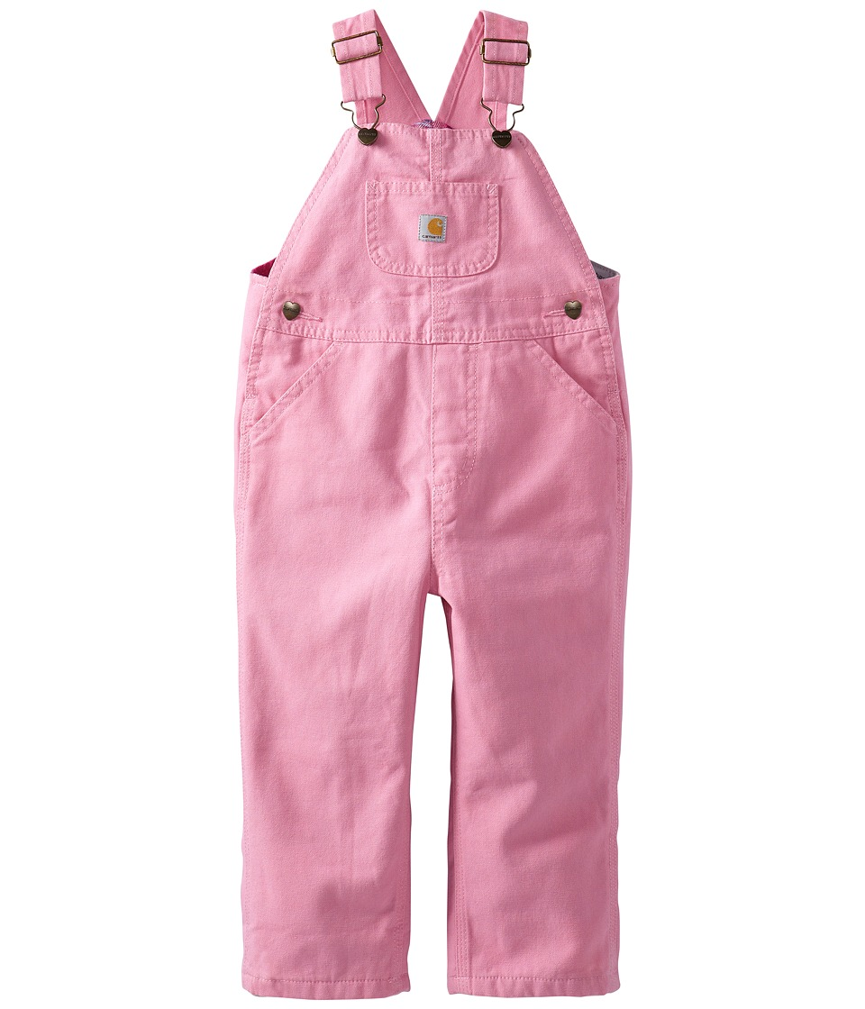Carhartt Kids - Canvas Bib Overall/Flannel Lined (Toddler...