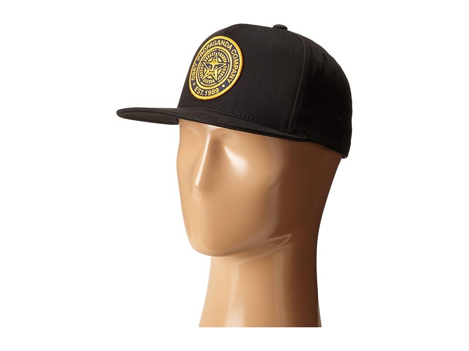 Obey 89 Company Snapback Black Caps