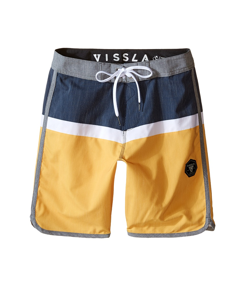 VISSLA Kids Dredges 4 Way Stretch Boardshorts 17 Big Kids Ale Boys Swimwear
