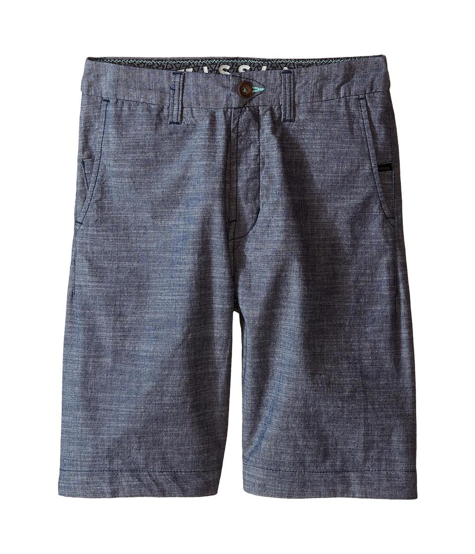 VISSLA Kids No See Ums Big Kids Navy Boys Shorts