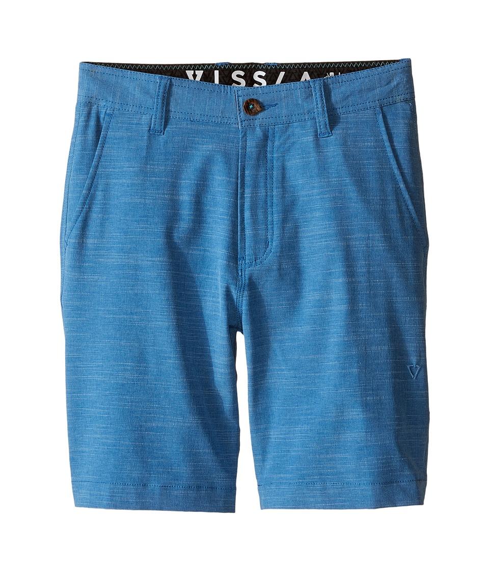 VISSLA Kids Fin Rope 4 Way Stretch Hybrid Walkshorts 17.5 Big Kids Blue Boys Shorts