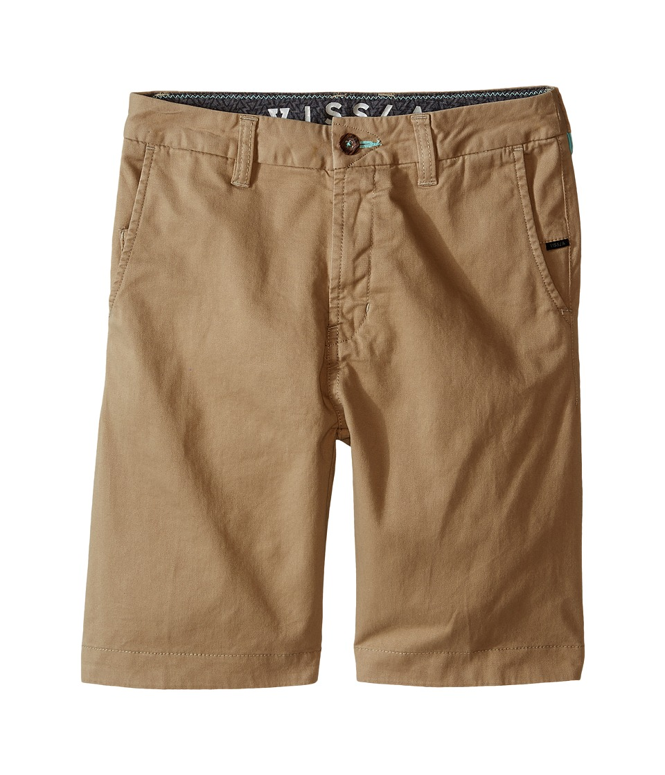 VISSLA Kids No See Ums Big Kids Light Khaki Boys Shorts