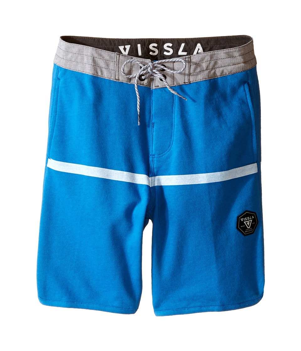 VISSLA Kids Sofa Surfer Chase Athletic Fleece Shorts 17 Big Kids Royal Wash Boys Shorts