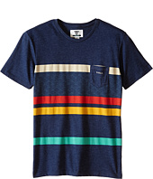 VISSLA Kids - Mind Surf Heathered Short Sleeve Crew (Big Kids)