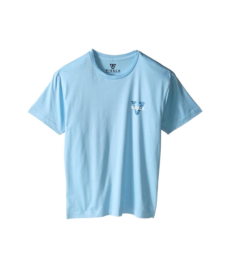 VISSLA Kids Reverse Tee Big Kids Coastal Blue Boys T Shirt
