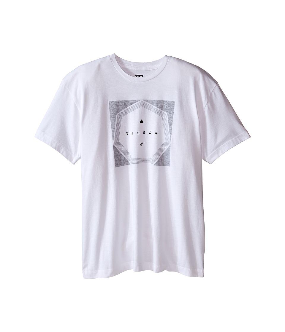 VISSLA Kids Tricky Heathered Tee Big Kids White Boys T Shirt