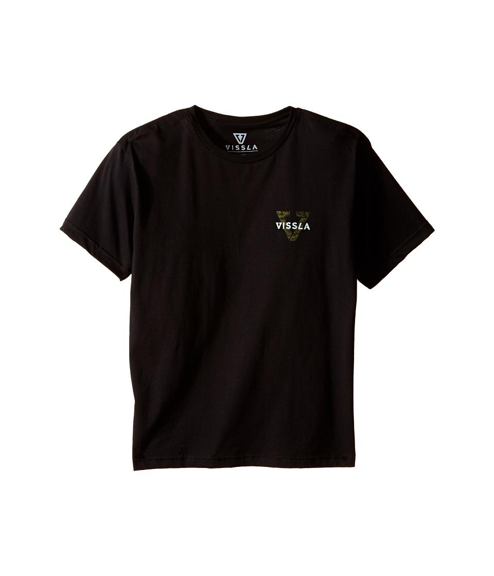 VISSLA Kids Reverse Tee Big Kids Black Boys T Shirt