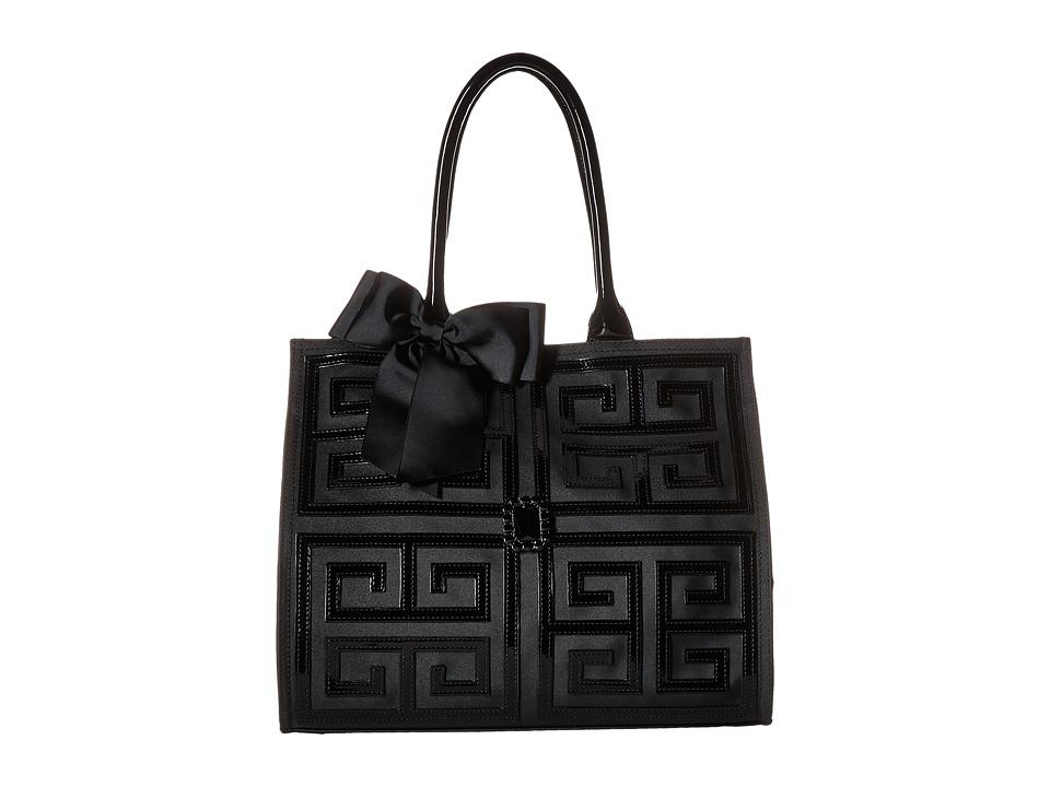 My Flat In London - Corniche Square Tote (Black) Tote Handbags