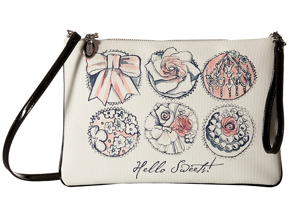 My Flat In London - Hello Sweets Convertible Pouch (Natural/Black) Wallet